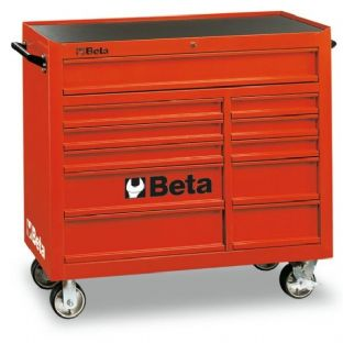 Beta C38-R Mobile Roller Cab With Eleven Drawers (Red)